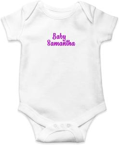 Customizable Baby Onesies, Boy Girl Gender Neutral Personalized Bodysuit Cotton