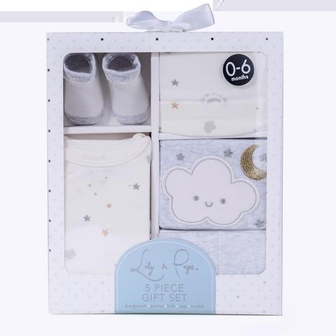 Flametricksubs Newborn 5 Piece Baby Gift Set for Baby Shower, Parties, Birthdays