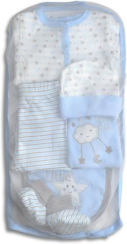 Image of Layette Set, 6 Piece Baby Essentials for Newborn Unisex Gift Boys and Girls